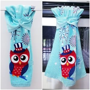 #965 TWO  Handmade Hanging Snap Hand Towels *15x25